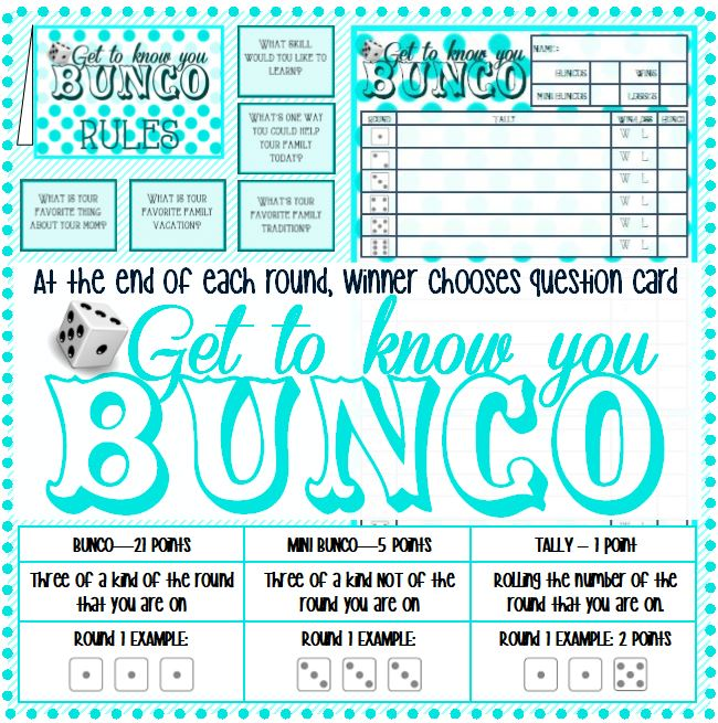 Get to know you BUNCO