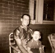 Dad and me as a child