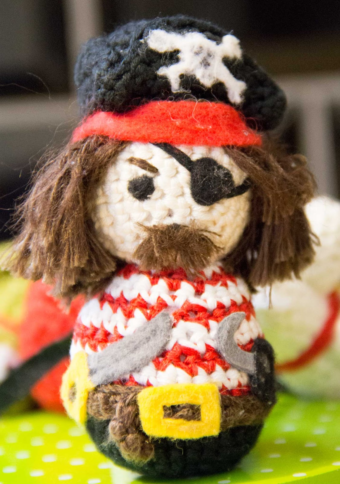 croched pirate amigurumi