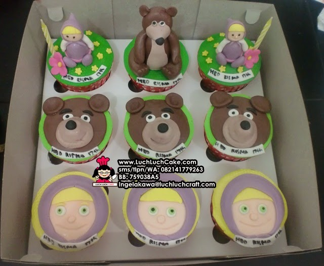 Cupcake Set Masha and The Bear Daerah Surabaya - Sidoarjo