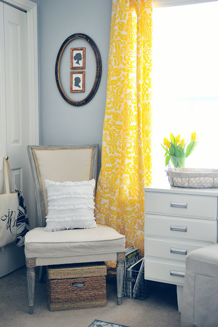 yellow floral curtains