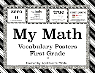 Photo of My Math Vocabulary Posters