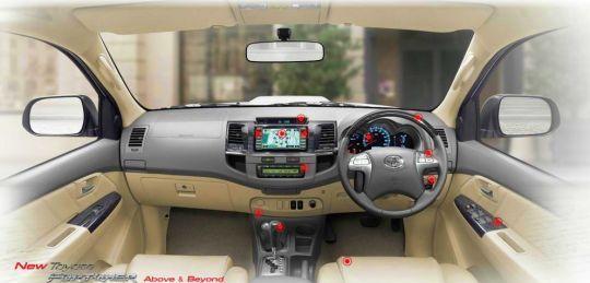 sajakah yang baru dengan Mobil Fortuner 2011 ini dibandingkan mobil