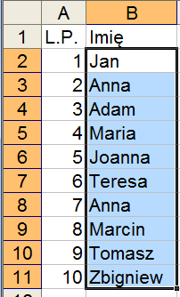 Excelowiec Kolorowanie Zduplikowanych Wartości Excel 2003