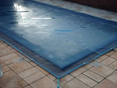 Capa para piscina de tela