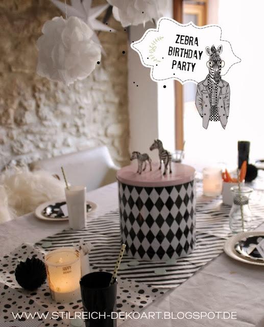 Zebra party gestreift gepunktet und mit m hrchen s t i l r e i c h blog - Stilreich blog ...