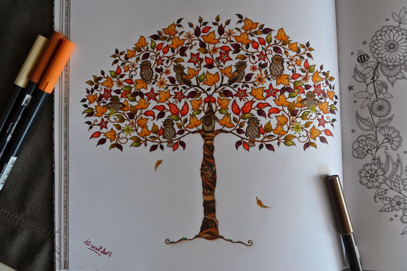 Le coloriage pour adultes art th rapie avril 2015 - Mon jardin secret coloriage ...