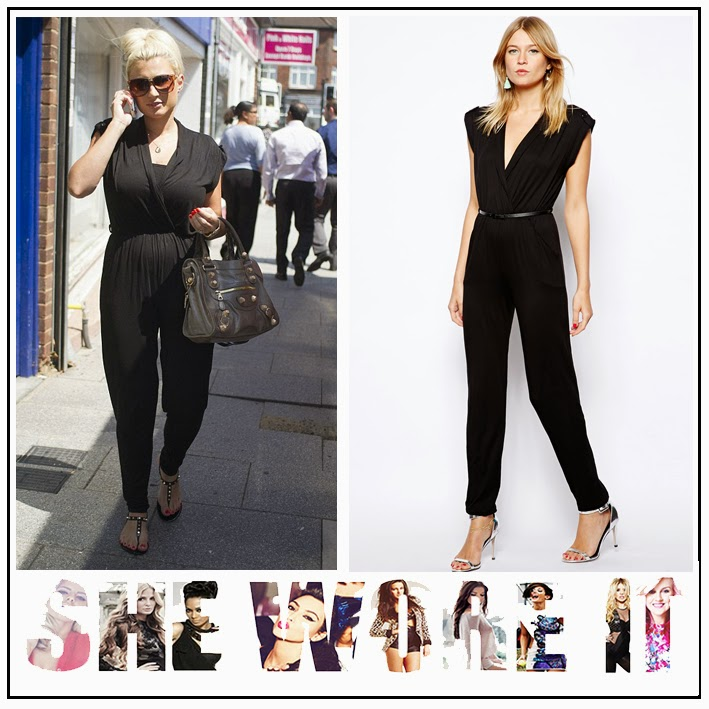 Belted, Billie Faiers, Black, Cap Sleeve, In love with Fashion, Jumpsuit, LOVE, Pocket Detail, Slim Leg, Tailored, The Only Way Is Essex, TOWIE, V-Neck, Waist Detail, Wrap Front,