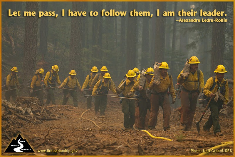 Let me pass, I have to follow them, I am their leader. –Alexandre Ledru-Rollin