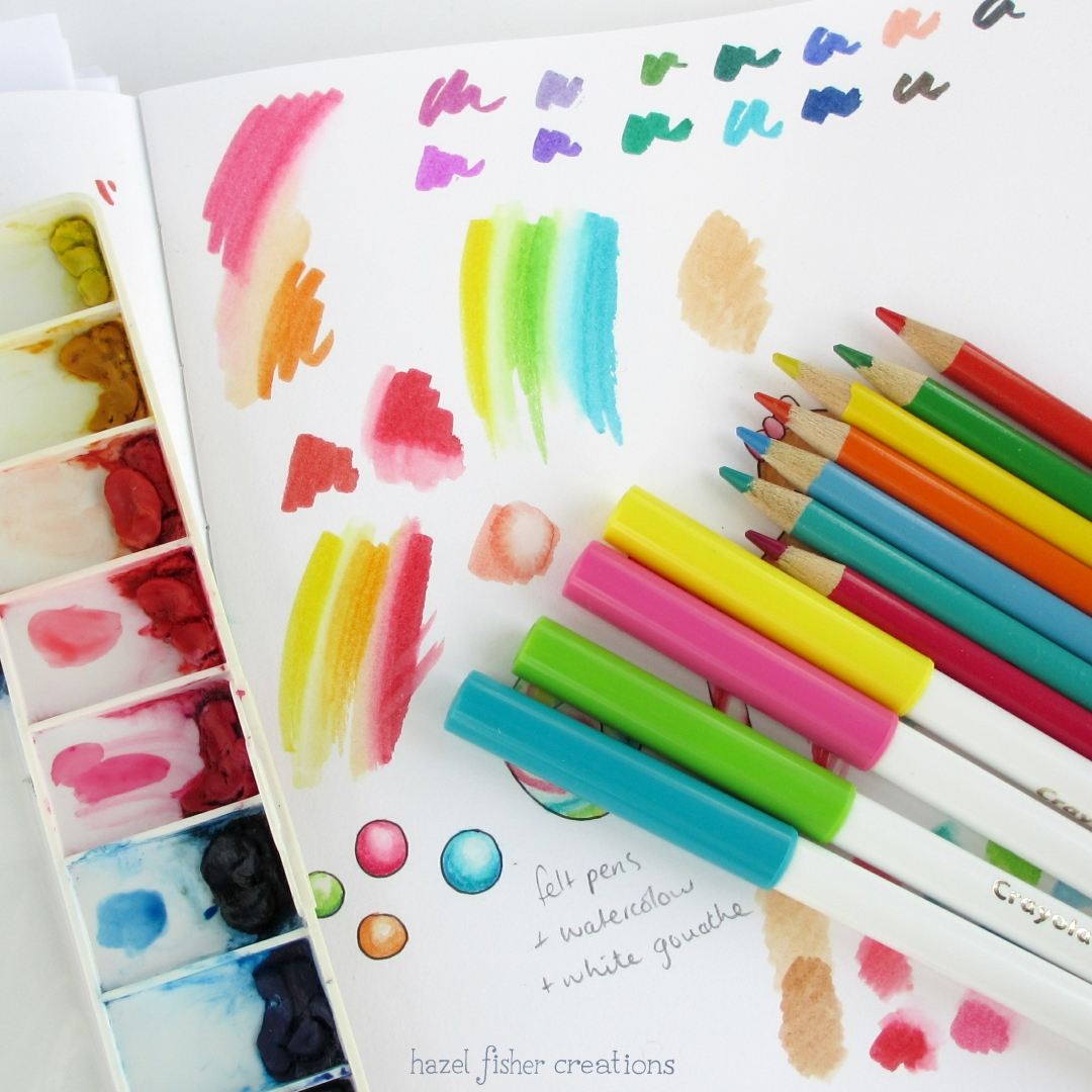 hazel fisher creations rainbow colours and free printable planner