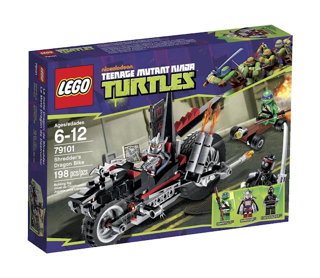 Lego ninja turtles shredder dragon bike 79101 review