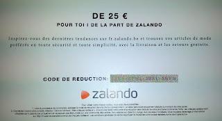 Bon achat offert test Zalando