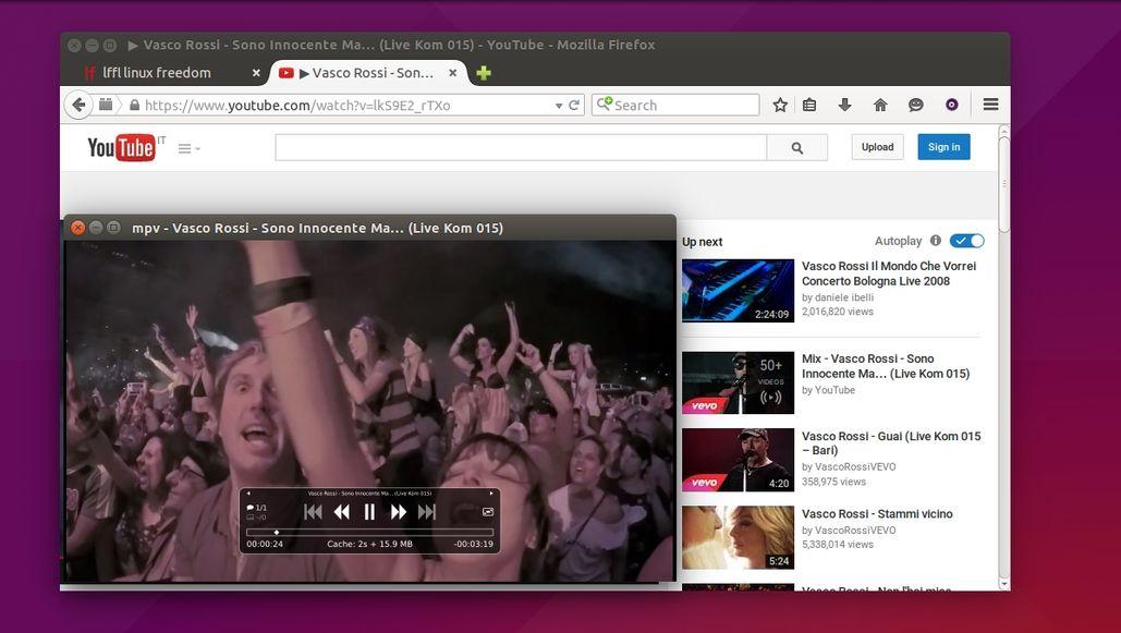 MPV in Firefox su Ubuntu