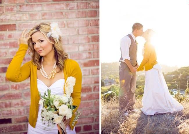 Wedding By Designs Cardigan Gown Wedding Idea
