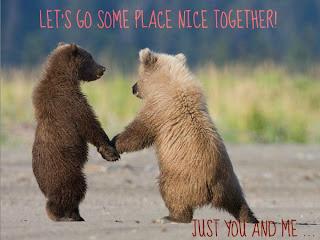 süße bären lass uns zusammen abhauen romantisch