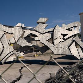 Gambar-gambar graffiti di dinding