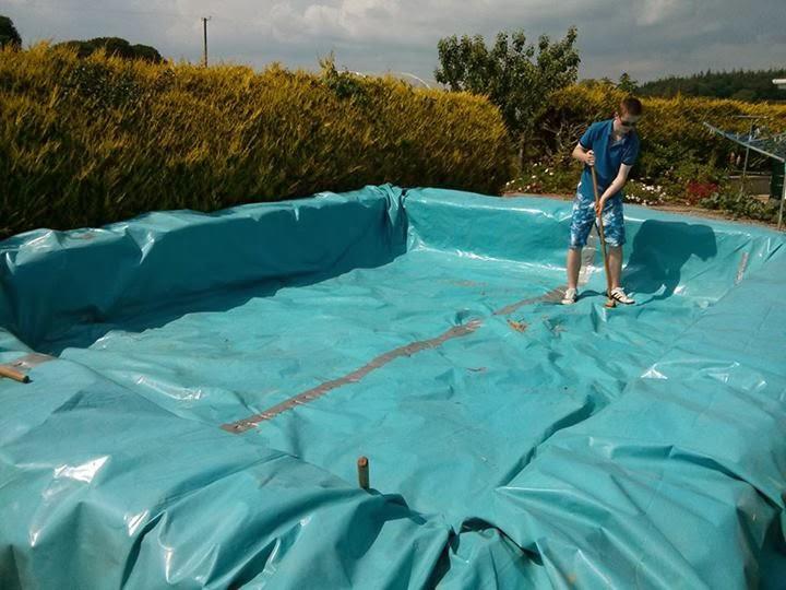 Hazlo t mismo como hacer una piscina con una lona y for Como hacer una piscina climatizada