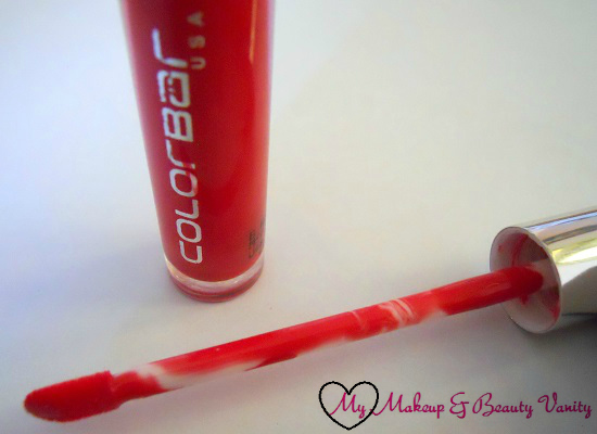 Colorbar True Gloss in Pink Stain+hot pink lipgloss