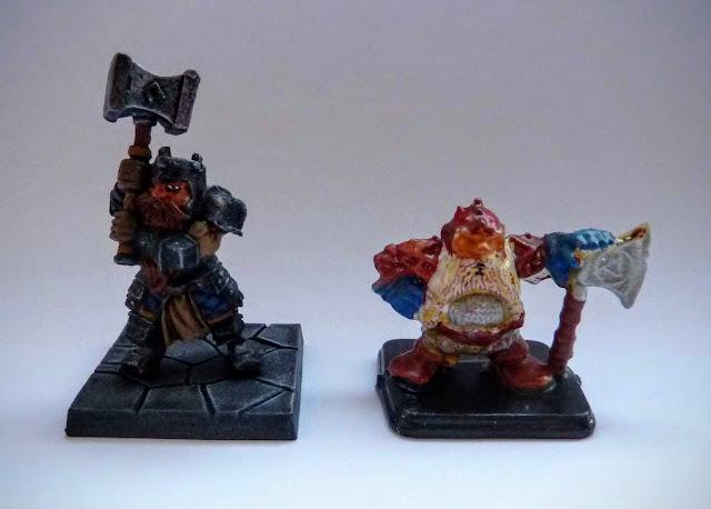 Dungeon Saga: Dwarf Kings Quest painted hero: Rordin.