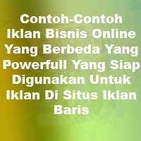 Contoh Iklan Bisnis Online