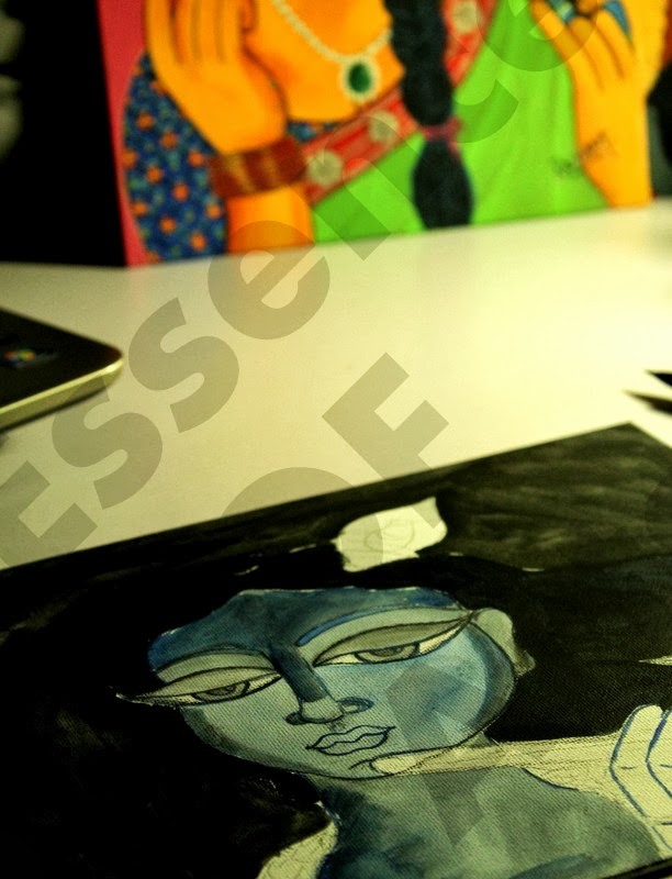 Krishna, sketch