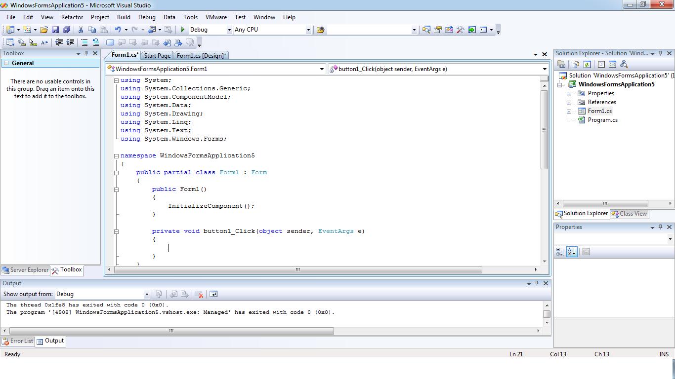 Programmingguide: Creating a simple Login Form in c#.net