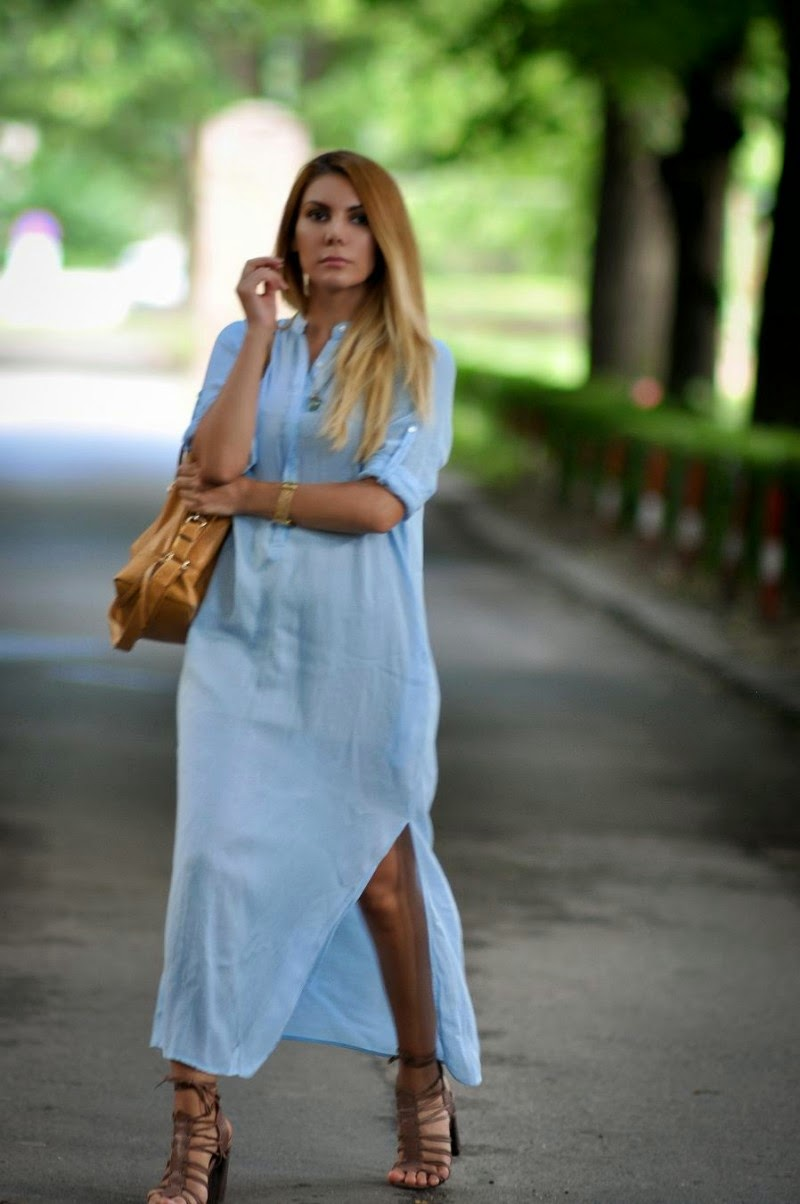 Simona mar maxi shirt dress for Blue dress shirt outfit