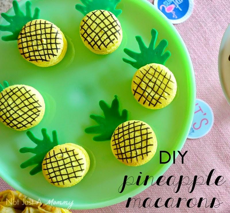 SpongeBob Squarepants Party Ideas; pineapple macarons