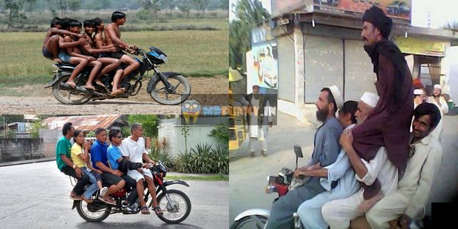 Crazy Boys Bike Ride Funny Photos