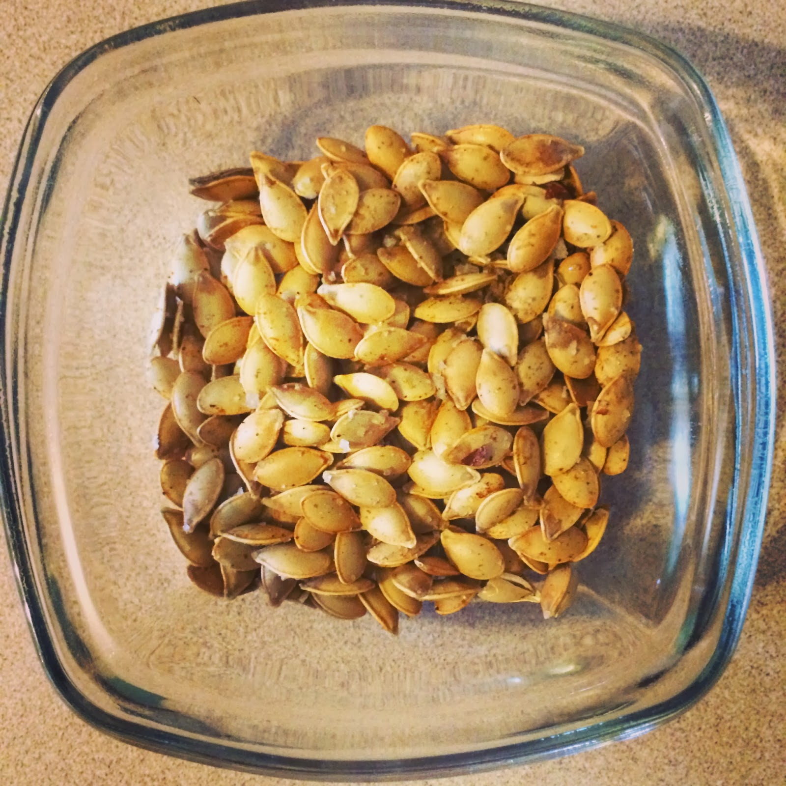 Little Cook in the Big City: Spicy Roasted Acorn Squash Seeds