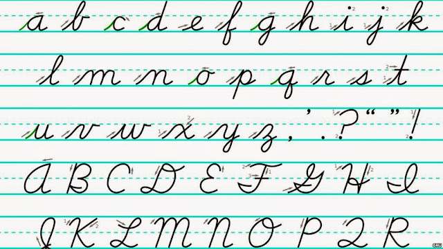 Images gallery of cursive script handwriting