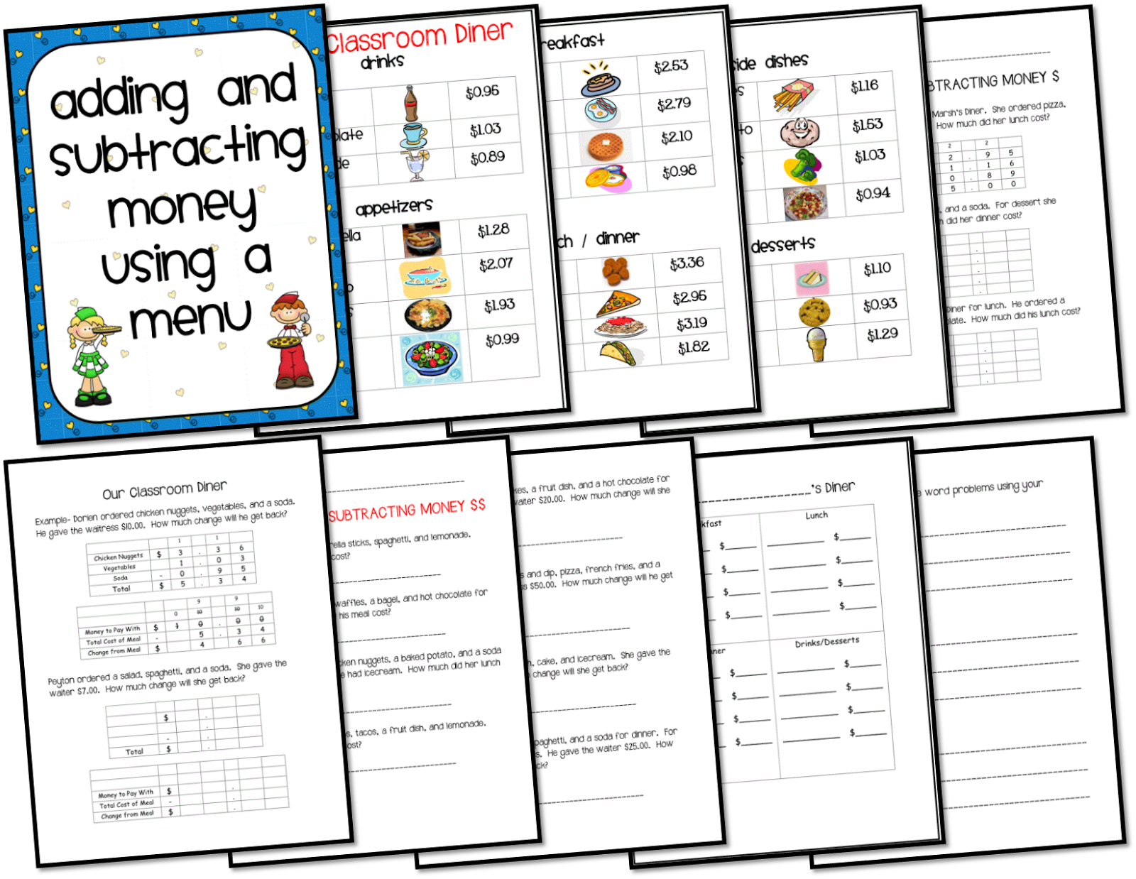 math worksheet : ms third grade math freebie and currently august : Add And Subtract Money Worksheets
