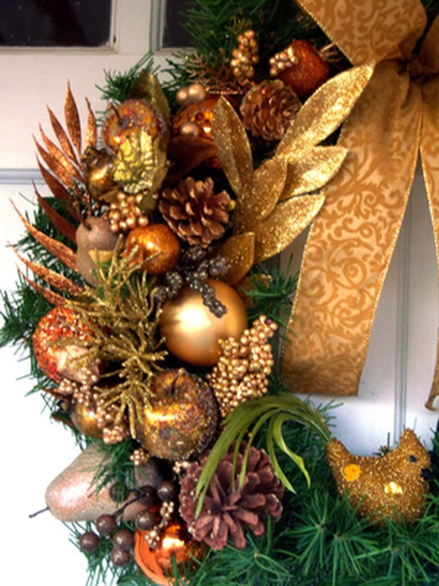 Holiday season is all about glitz and glamour dress up a plain wreath