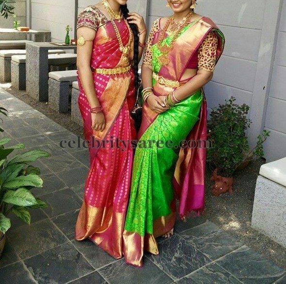 South Indian Women Silk Sarees Saree Blouse Patterns