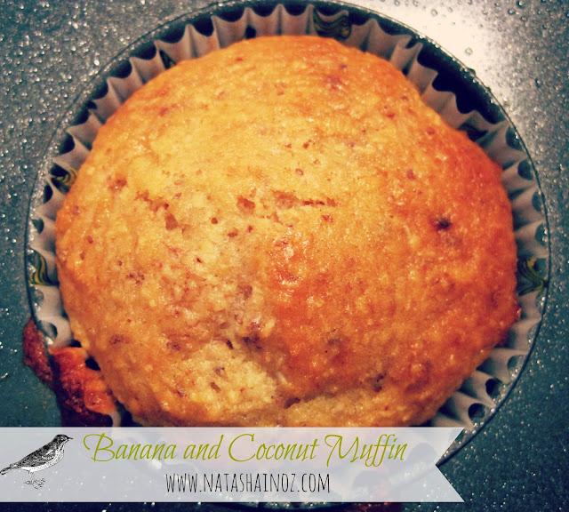 Banana & Coconut Muffin Recipe, Natasha in Oz