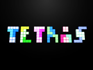 Minimal Tetris Text HD Wallpaper