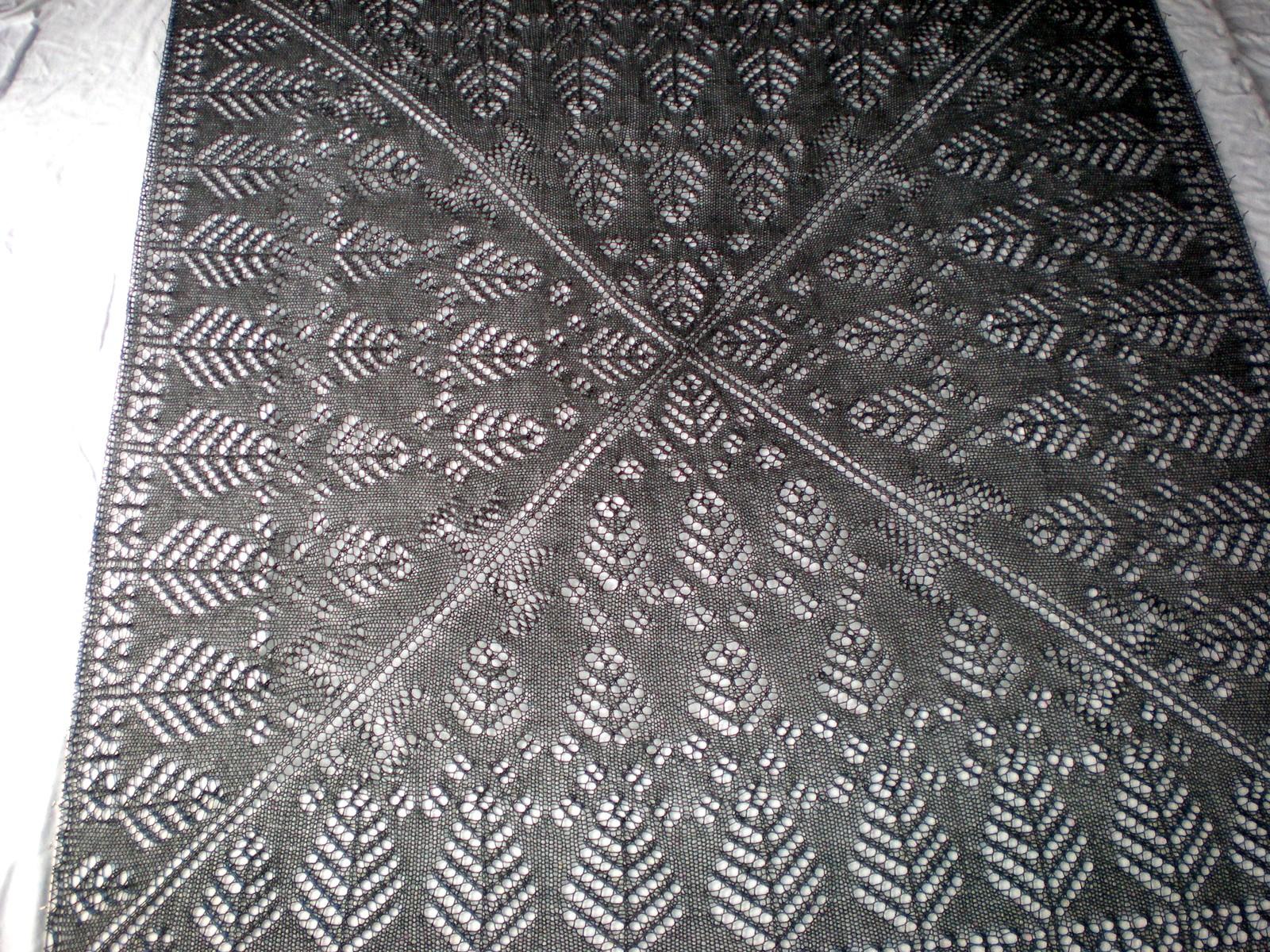 расчет шали по схеме салфетки