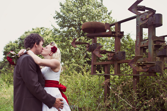 Becky & John by Hannah Millard. Alternative Wedding Photography
