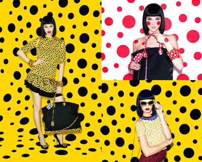 Louis Vuitton collection designed by Yayoi Kusama