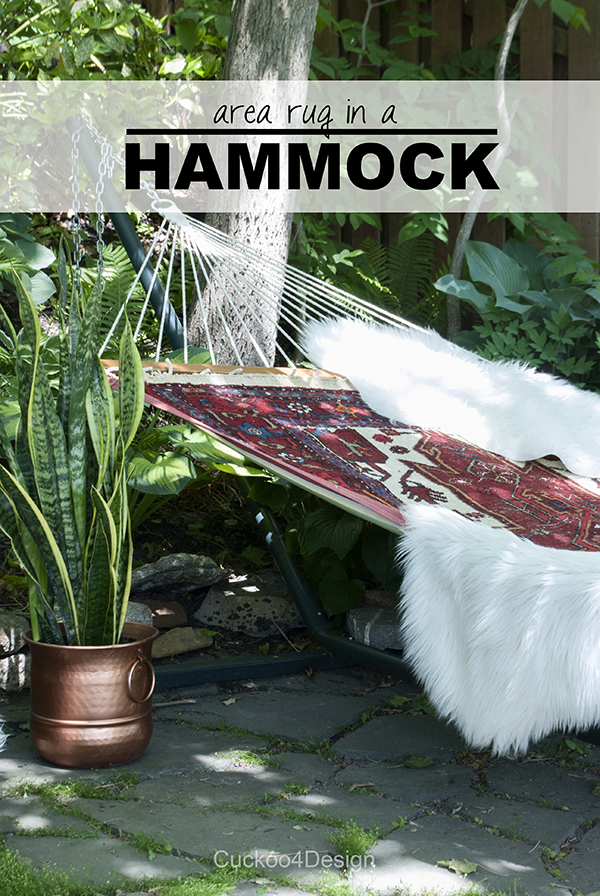 outdoor patio design by Cuckoo4Design - rug in a hammock
