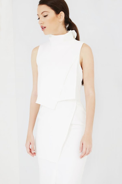 lavish alice white dress, white asymmetric dress,