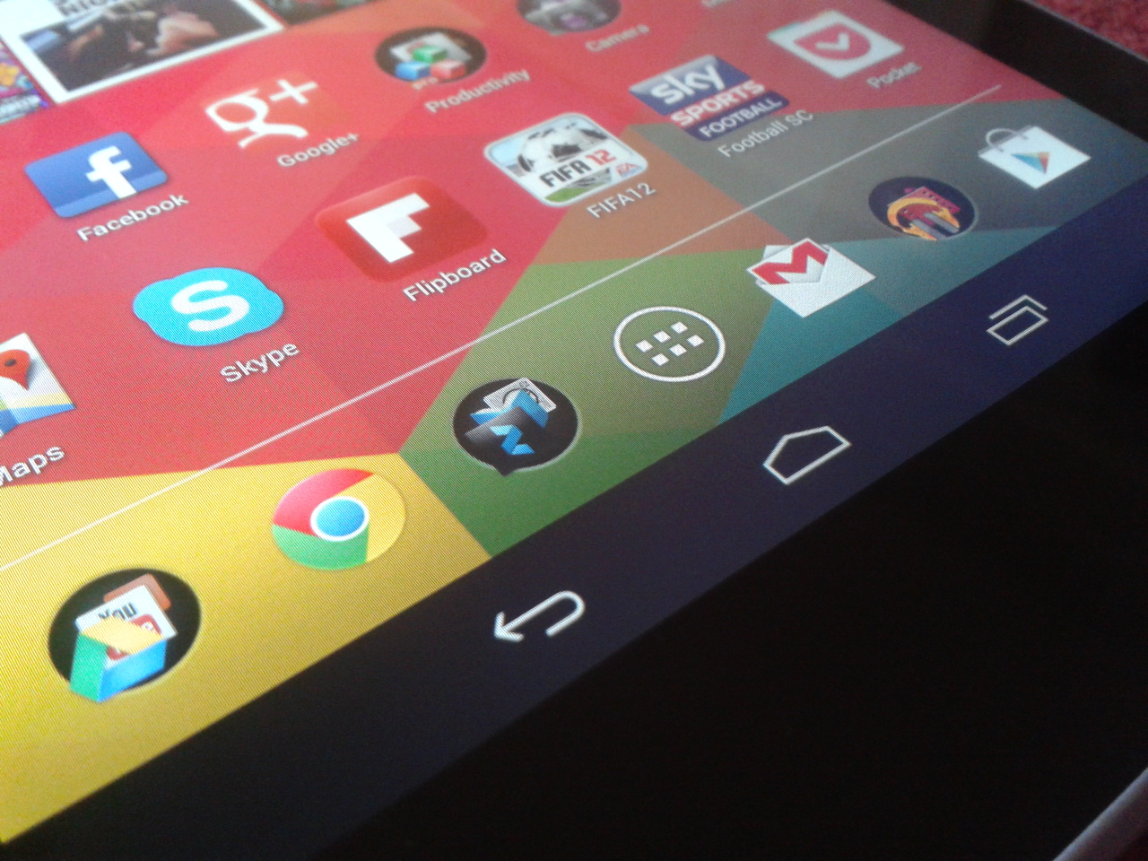 Dock icons in Android 4.2