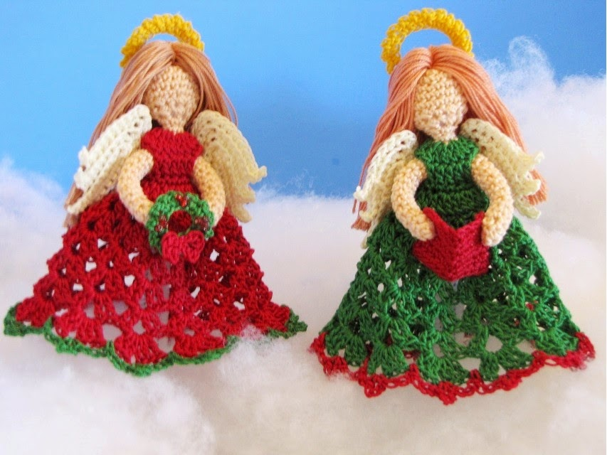 Free Crochet Patterns Christmas Angels : BellaCrochet: The Littlest Angel Christmas Ornaments: A ...