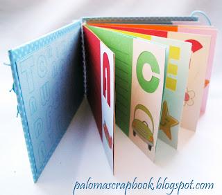 dicionario scrapbook, dicionario personalizado, mini album scrapbook