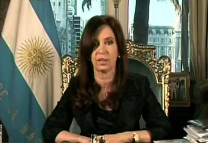 Presidente Cristina Fernández Wilhelm en Cadena Nacional