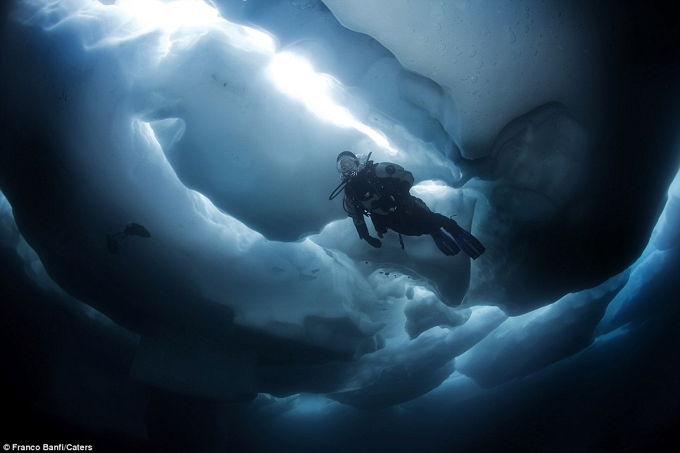 gambar dalam air dalam glasier