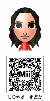 森保まどか(HKT48)のMii QRコード トモダチコレクション新生活