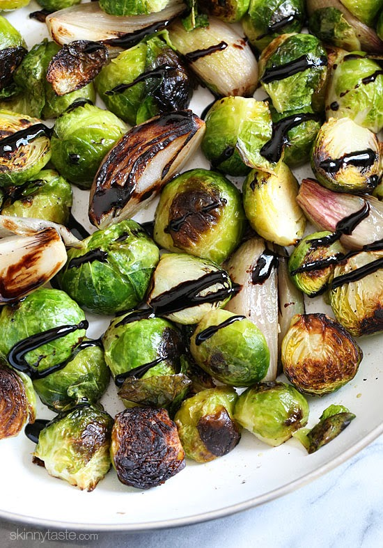 Roasted Brussels Sprouts and Shallots with Balsamic Glaze ...