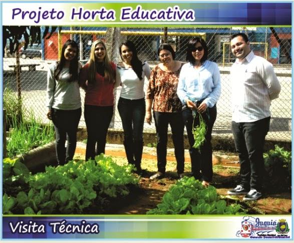 Projeto Horta Educativa em Juquiá recebe visita do Assessor da primeira-dama do Estado Lú Alckmin