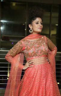 Anukriti aka Sridevi of RGV in Anarkarli Suit at Pink Affair Fashion Show